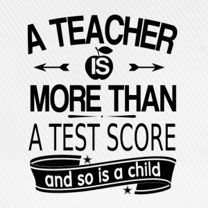 A teacher is more than a test grade (white) Baby Long Sleeve Shirts - Baseball Cap