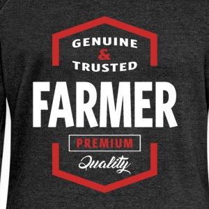 Genuine Farmer T-shirt Gift - Women's Boat Neck Long Sleeve Top
