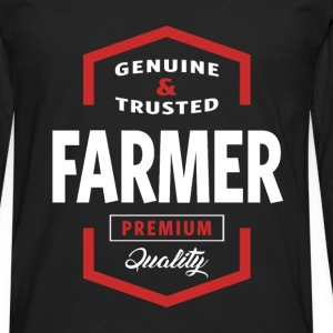 Genuine Farmer T-shirt Gift - Men's Premium Longsleeve Shirt