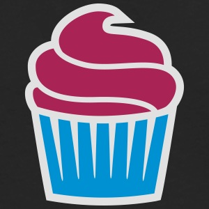 cupcake three-colored cupcake tre-farget T-skjorter - Premium langermet T-skjorte for menn