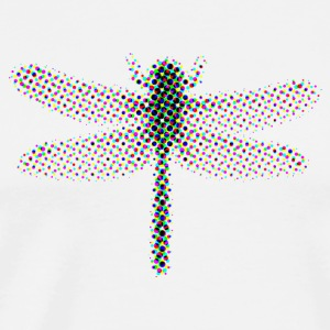 Dragon-fly CMYK halftone - Men's Premium T-Shirt