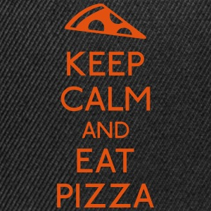 Keep Calm Pizza mantener calma pizza Camisetas - Gorra Snapback