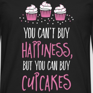 Cant buy happiness, but cupcakes T-Shirts - Männer Premium Langarmshirt