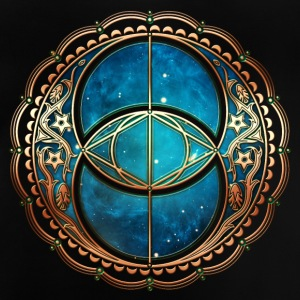 Vesica Piscis, Chalice Well, Avalon, Galaxy, Space Langærmede shirts - Baby T-shirt