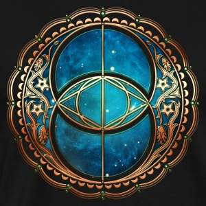 Vesica Piscis, Chalice Well, Avalon, Galaxy, Space Langærmede shirts - Herre premium T-shirt