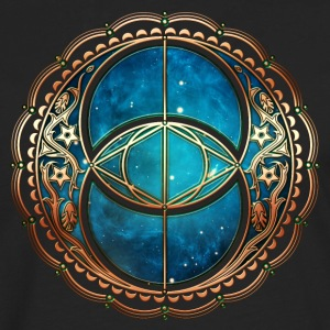 Vesica Piscis, Chalice Well, Avalon, Galaxy, Space Tee shirts - T-shirt manches longues Premium Homme