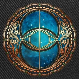 Vesica Piscis, Chalice Well, Avalon, Galaxy, Space Tee shirts - Casquette snapback