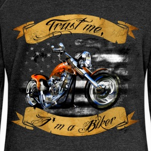 Trust me, I'm a biker - Women's Boat Neck Long Sleeve Top