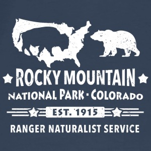 Rocky Mountain Nationalpark Berge Bison Grizzly - Männer Premium T-Shirt