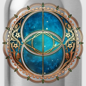 Vesica Piscis, Chalice Well, Avalon, Galaxy Magie  - Trinkflasche