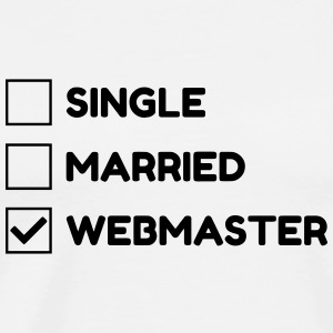 Webmaster Internet Web Geek Website Forklær - Premium T-skjorte for menn