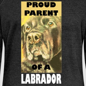 Proud parent of a Labrador - Women's Boat Neck Long Sleeve Top