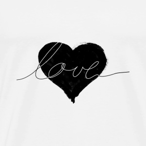 love and heart Mugs & Drinkware - Men's Premium T-Shirt