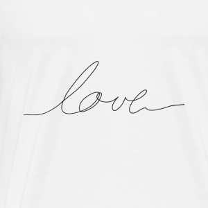 hand written love Baby Bodysuits - Men's Premium T-Shirt