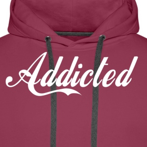Addicted(white text) T-shirts - Herre Premium hættetrøje