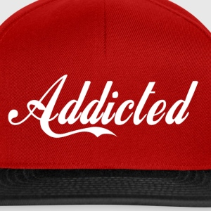 Addicted(white text) T-Shirts - Snapback Cap