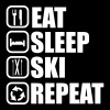Eat,sleep,ski,repeat - Ski t-shirt  - Maglietta Premium da uomo