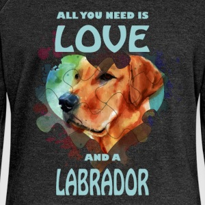 All you need is love and a Labrador - Women's Boat Neck Long Sleeve Top