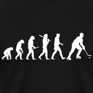 Ice hockey evolution Long Sleeve Shirts - Men's Premium T-Shirt