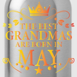 The Best Grandmas Are Born In May T-Shirts - Water Bottle