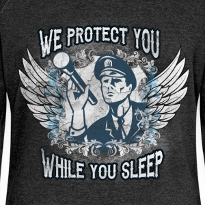 We protect you while you sleep - Women's Boat Neck Long Sleeve Top