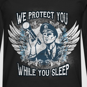 We protect you while you sleep - Men's Premium Longsleeve Shirt
