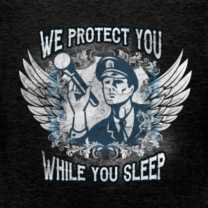 We protect you while you sleep - Men's Premium Tank Top