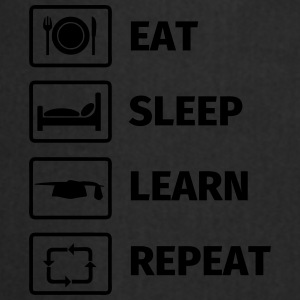 EAT SLEEP LEARN REPEAT Kopper & tilbehør - Kokkeforkle