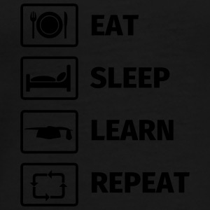 EAT SLEEP LEARN REPEAT Mugs & Drinkware - Men's Premium T-Shirt