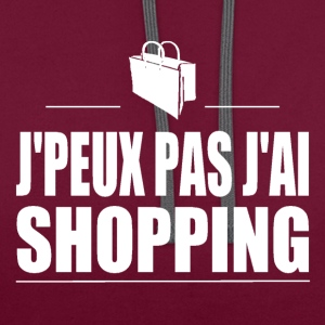 J'peux pas j'ai shopping Tee shirts - Sweat-shirt contraste