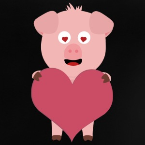Pig with big hearts for Valentine's day Shirts - Baby T-Shirt