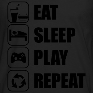 Eat,sleep,play,repeat Gamer Gaming  - Männer Premium Langarmshirt