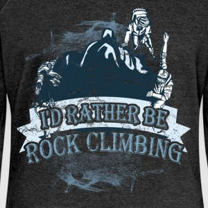 I'd rather be rock climbing - Women's Boat Neck Long Sleeve Top
