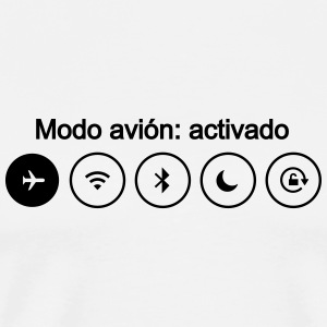 modo avion airplane mode smartphone movil - Camiseta premium hombre