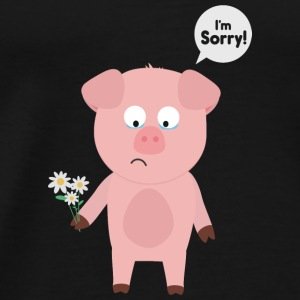 Pig-I'm sorry with flowers Baby Long Sleeve Shirts - Men's Premium T-Shirt