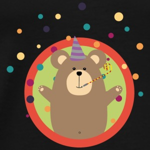 Party bear with patches in circle Bags & Backpacks - Men's Premium T-Shirt