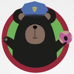 Policeman Grizzly with a pink donut Shirts - Baseball Cap