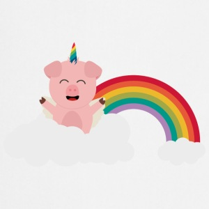 Unicorn-gris på cloud Skjorter - Kokkeforkle