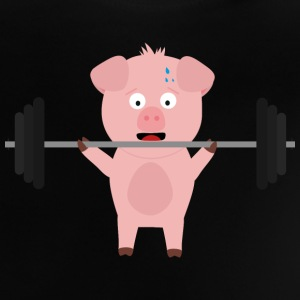 Fitness pig with weights Shirts - Baby T-Shirt