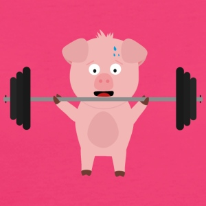 Fitness pig with weights Bags & Backpacks - Women's Organic T-shirt