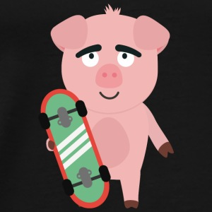 Skateboard pig with boards Bags & Backpacks - Men's Premium T-Shirt