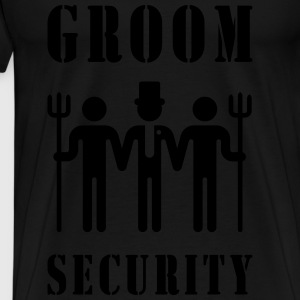 Groom Security (Bachelor Party / Stag Night) Sports wear - Men's Premium T-Shirt