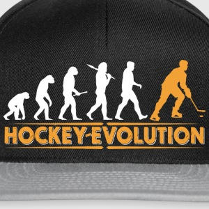 Hockey Evolution - orange/weiss T-Shirts - Snapback Cap