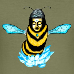 Buddha Bee - Männer Slim Fit T-Shirt