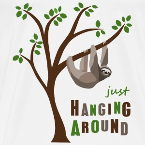 Faultier hanging around - Männer Premium T-Shirt