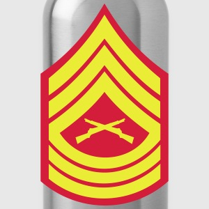 Master Sergeant MSgt, Mision Militar ™ T-Shirts - Trinkflasche