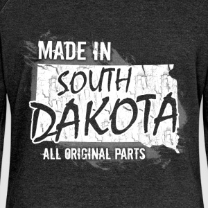 Made in South Dakota all original parts  - Women's Boat Neck Long Sleeve Top