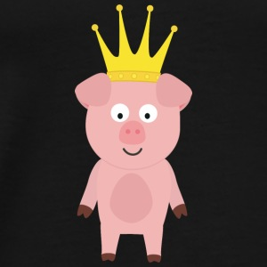 Pork King with Crown Bags & Backpacks - Men's Premium T-Shirt