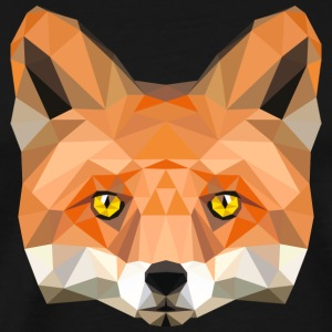 fox poly vixen fox illustration low poly head Long Sleeve Shirts - Men's Premium T-Shirt