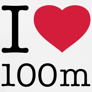 I LOVE 100 m Tops - Men's Premium T-Shirt